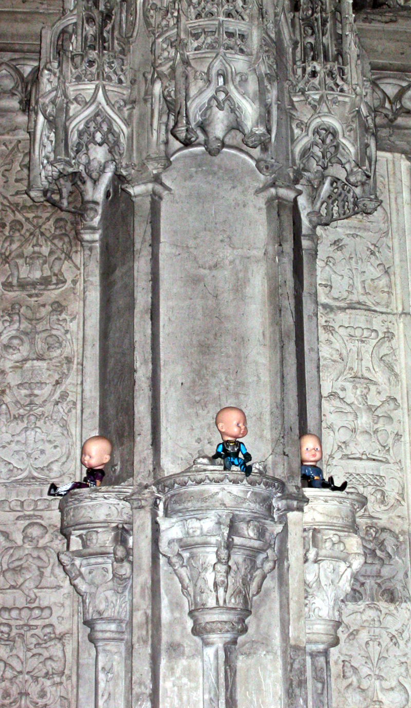 Are We Gods_Batboys in Chartres Cathedral France  2008