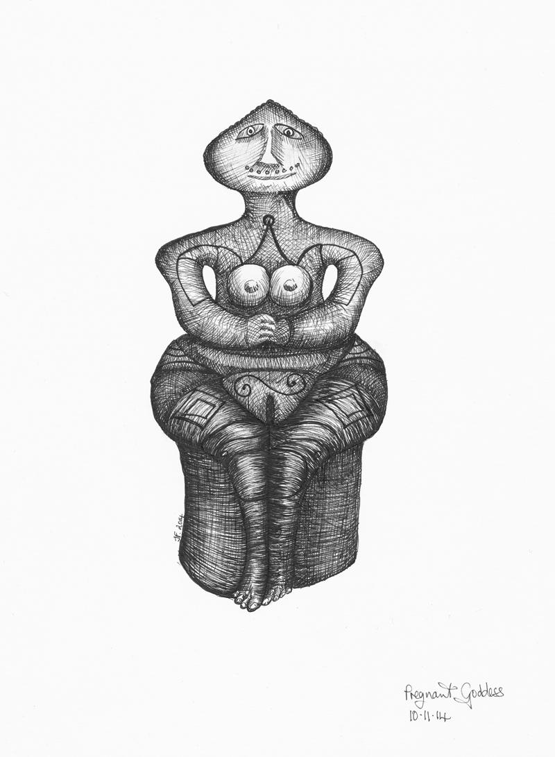 Pregnant Goddess-Paleolithic