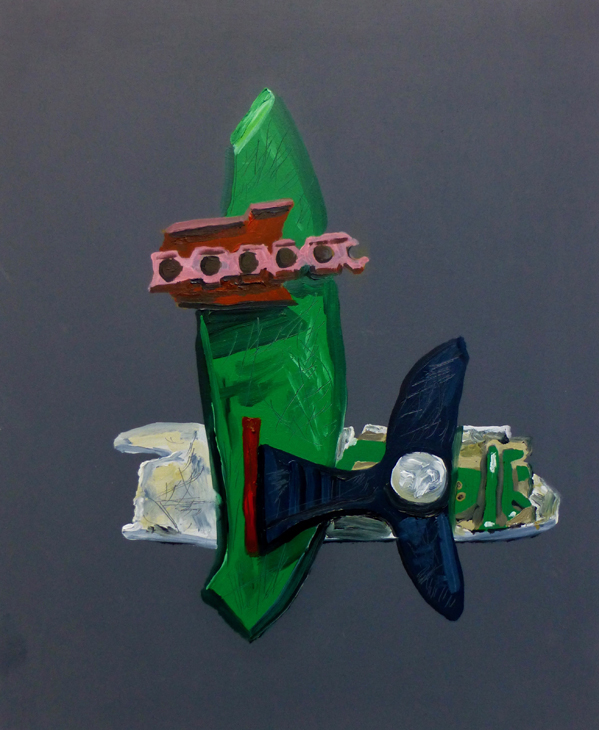 one of a series of paintings made to highlight the plastic polluting fields where food is grown